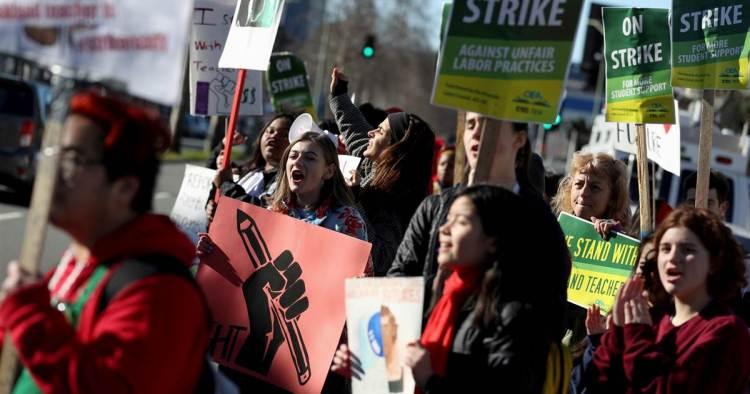 Oakland  instructors  join  nationwide  strike  wave