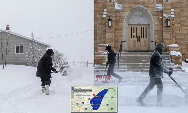 Effective  blizzard  threatens  main  U.S.  with  up  2  feet  of  snow  and  effective  winds
