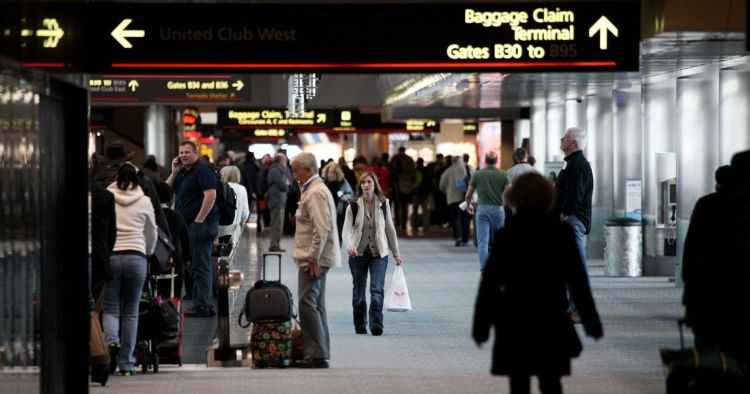 Denver Talking  gargoyle  shocks  travelers  at  Denver  International  Airport