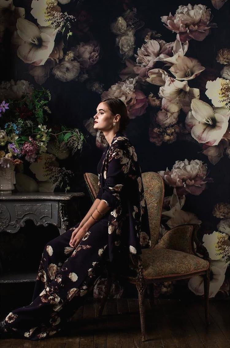 Dark Floral Wallpaper By Ashley Woodson Bailey