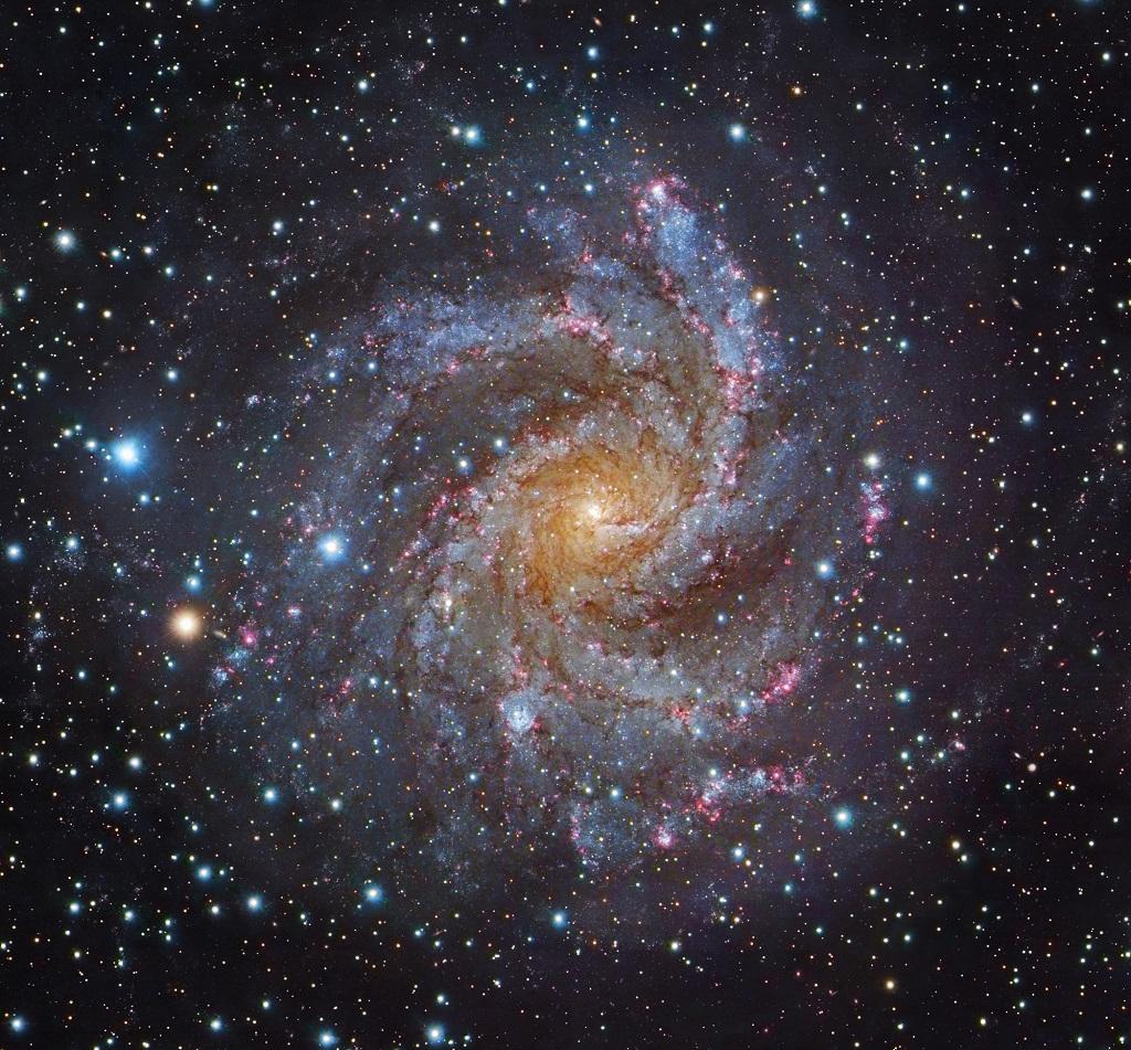 The Fireworks Galaxy A Spiral Galaxy In Cepheus Cygnus