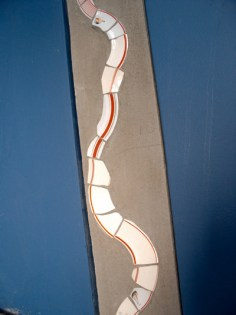 Detail, second part of work in appartment houses stairway.