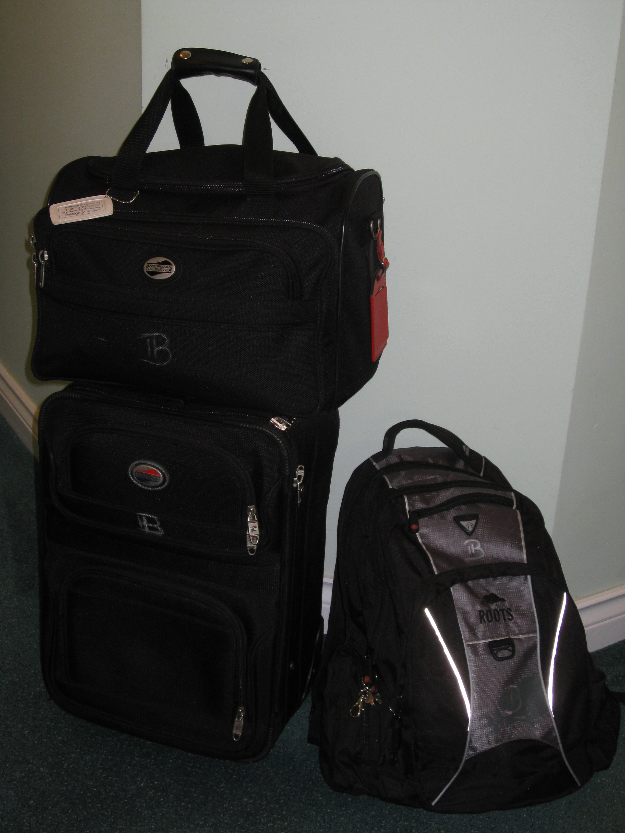 Suitcase, Duffel, Backpack