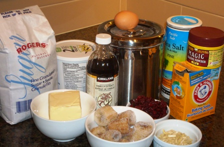 Almond Berry Banana Bread Ingredients
