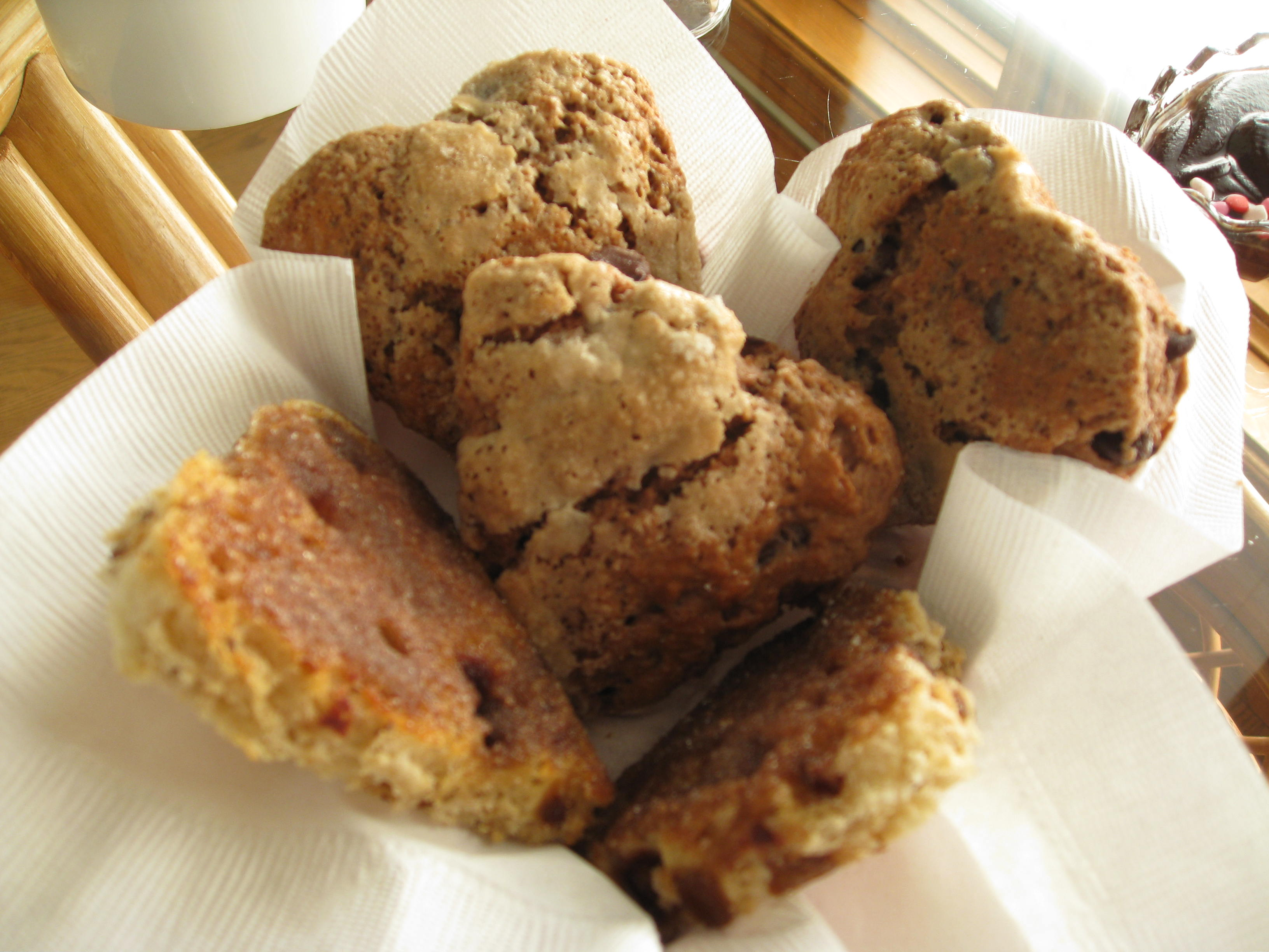 Heart Shaped Chocolate Chip Scones & Heart Shaped Cinnamon Toast Cut Outs