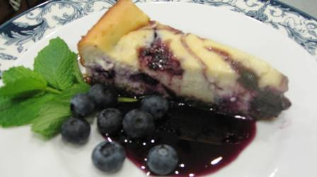 Blueberry lemon cheesecake small