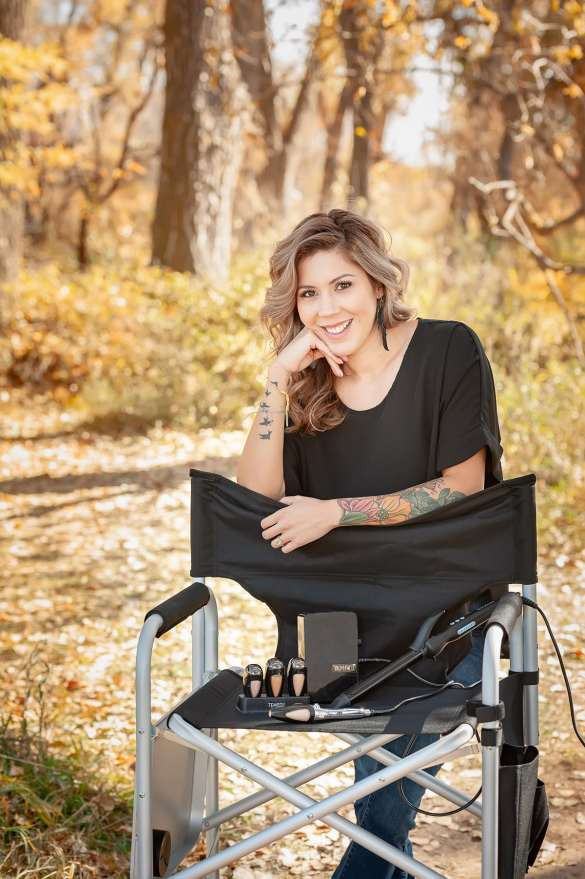 Makeup Artist and Hair Stylist Adrianna Leal with her tools.