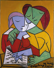 Two Girls Reading by Pablo Picasso