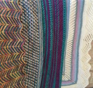 Stripe it Rich shawls