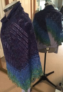 Peacock Shawl MKAL, by Sivia Harding