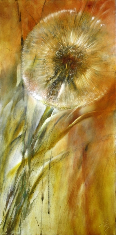 painting of a dandelion