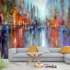 art print skyline painting