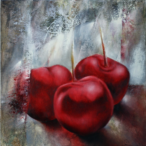 painting of cherries