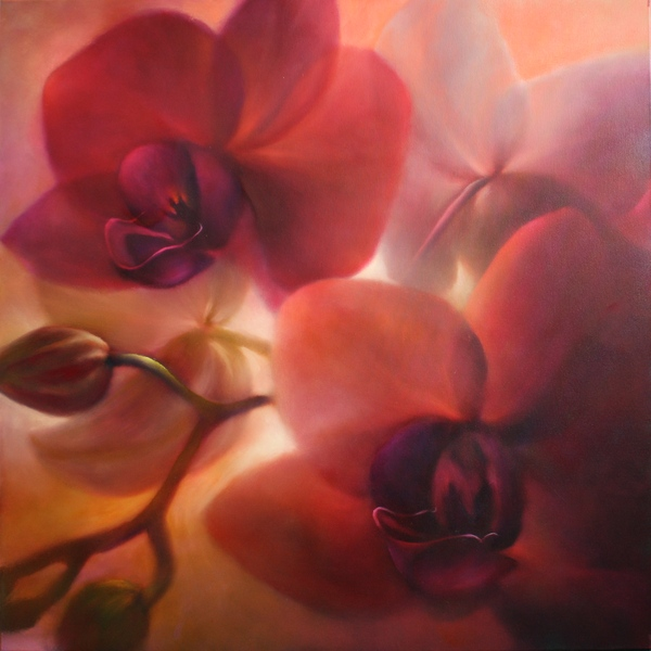 painting of orchids