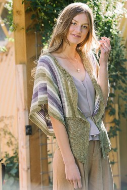 """""""Ample Cardigan"""" from Interweave Crochet, Spring 2017. (Photo credit: Interweave Crochet/GoodFolk Photography.)"""