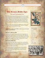 free medieval brochure about the middle ages in Germany