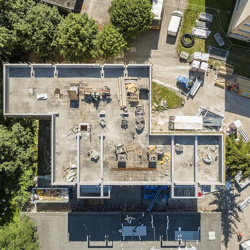 drone reportage chantier