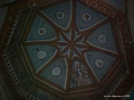 Artwork on the ceiling of Our Lady of Assumption Church