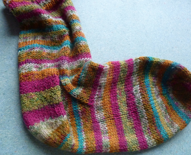sock knitted top down common heel
