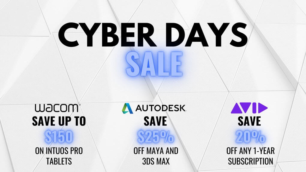 Black Friday Sale Save On Wacom Autodesk And Avid