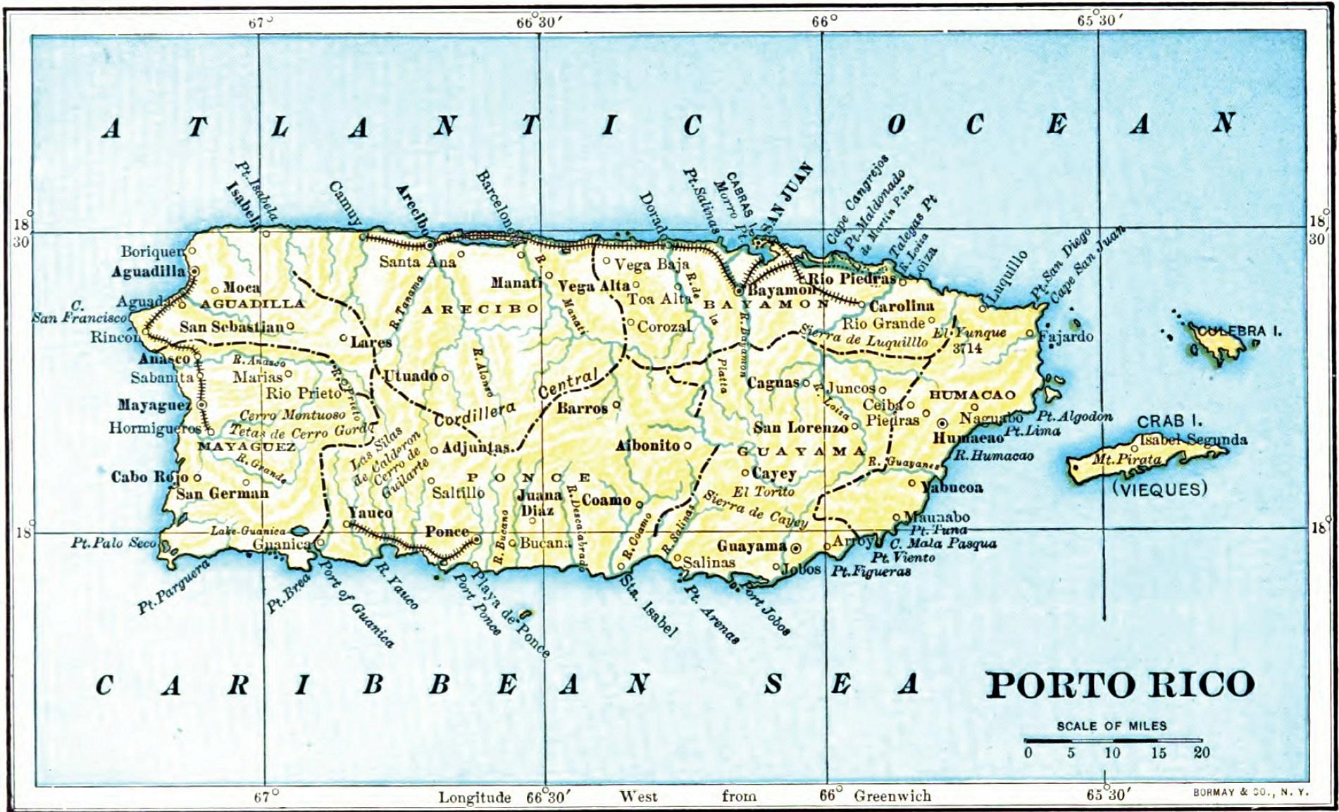 Puerto Rico Maps