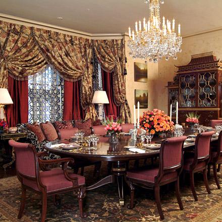Ann Getty Associates Elegant Dining Room
