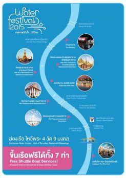 チャオプラヤー川沿いの会場マップ