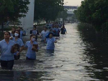 歩道が浸水 出典:paipibat