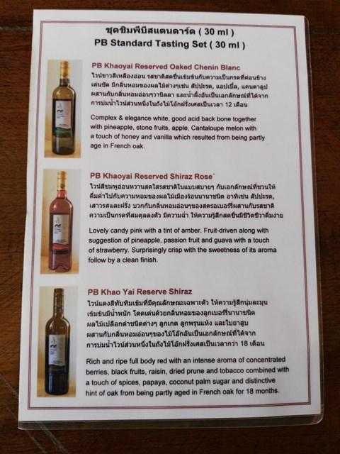 各ワインの説明