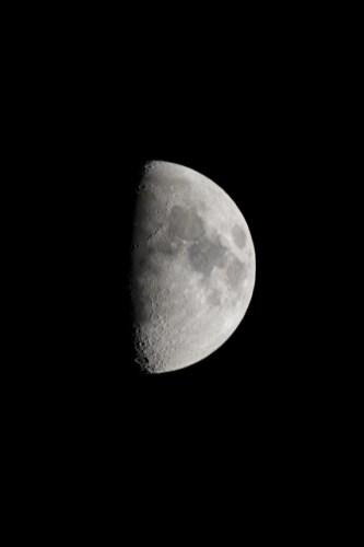 日本で見る半月