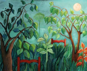 Waiting for the Lion, 20x24, acrylic on canvas, ©2010, Ann Hart Matquis, SOLD
