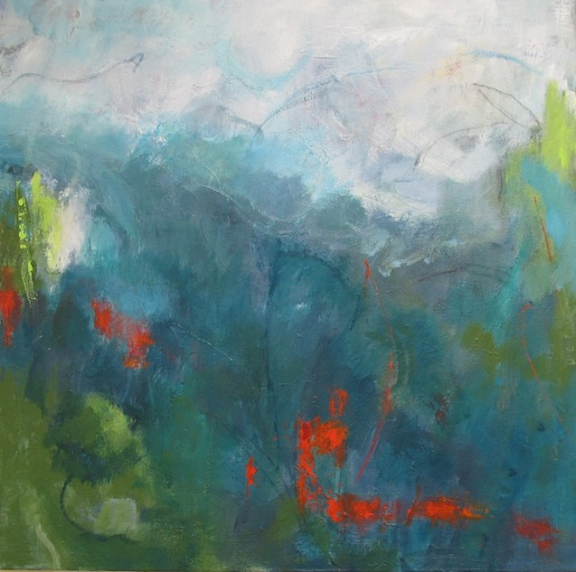 Abstract Landscape paintings showing live in my watery world