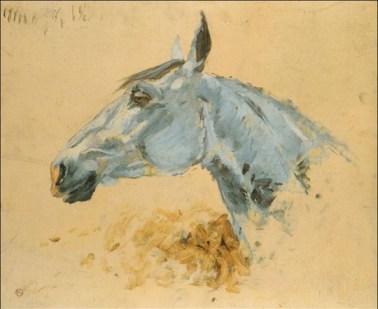 Cheval Blanc, 1881, Toulouse, Lautrec