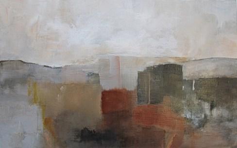 Ann Hart Marquis-New Mexico, Late Fall-acrylic