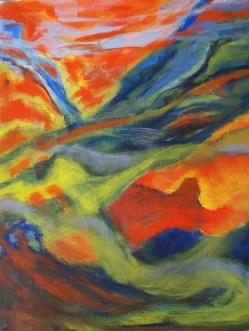 Acrylic on paper, Lorna Filipinni-Mulliken