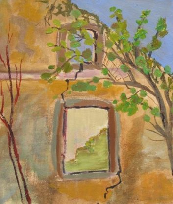 Ruins was done by romantic painter Ann Hart Marquis
