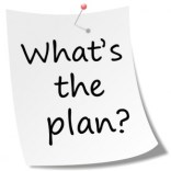 """A note that says """"What's the plan?"""""""