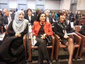 Avec Lakshmi Puri et Tawakkol Karman_