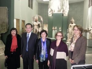 Avec les partenaires français et chinois