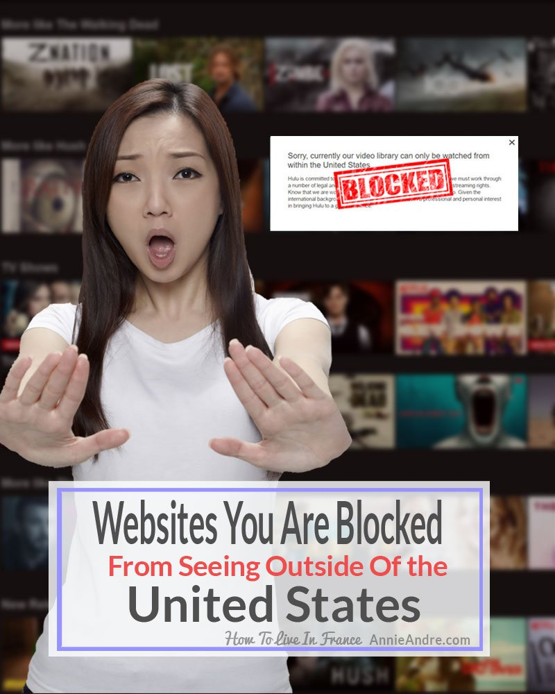 Websites that are blocked outside of the United States