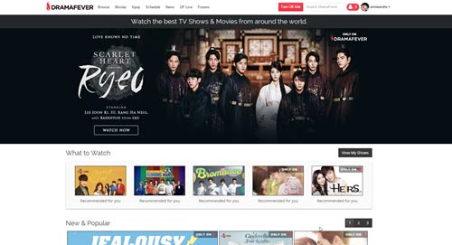 dramafever internation asian and latin shows with subtitltes