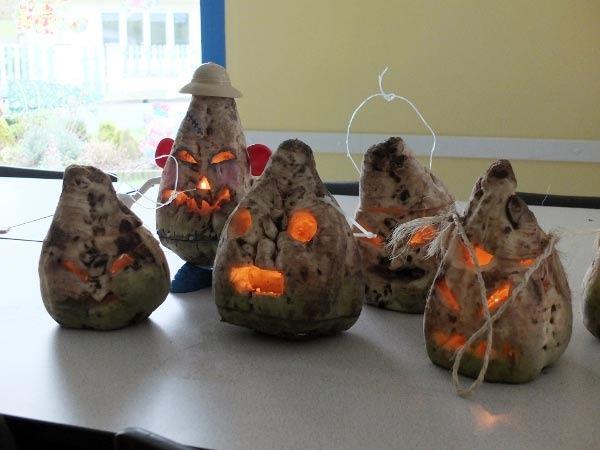 carve a beet for halloween like they do in boulonnais france