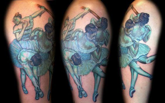 Edgar Dégas and other tattoos inspired from famous French painters