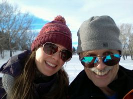 Snowshoeing at Confederation Park