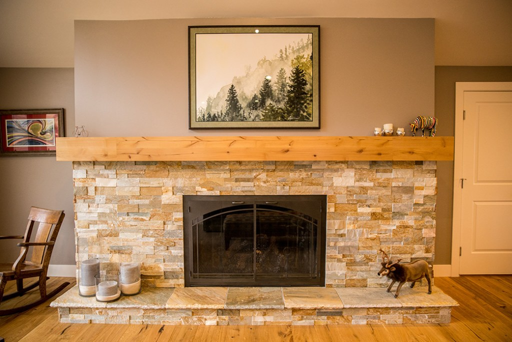 Web Design for General Contractor – Fireplace and mantle