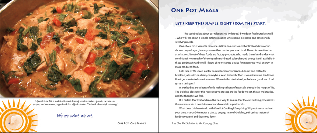 One Pot, One Planet page layout