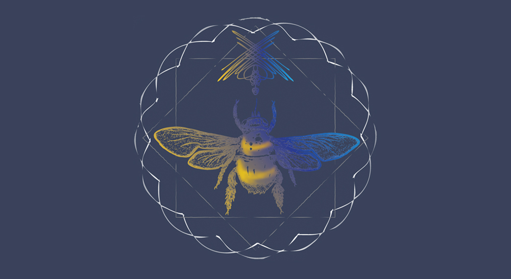 Websites with vivid color – bee mandala logo