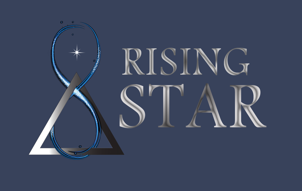 Web Design and Conceptual Development. Rising Star logo