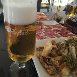 Beer & tapas at Lonja del Barranco gourmet market Seville