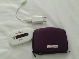 AllDayInternet device, case and charging plug